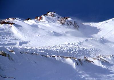 Перед метелью горы Эльбрус Кавказ