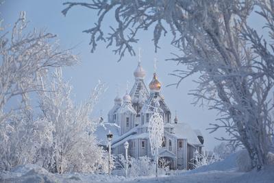 Изморозь (3) Чукотка Анадырь Храм Святой Живоначальной Троицы зима изморозь иней