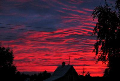 Кровавый закат Красный закат