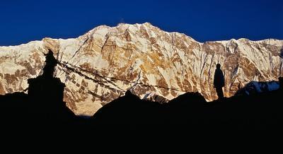 Аннапурна.Южная стена. Южная стена Аннапурны,Гималаи,Непал,восход