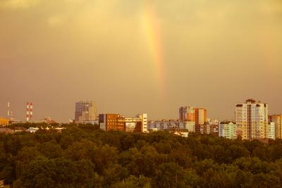 Радуга Пермь радуга облака