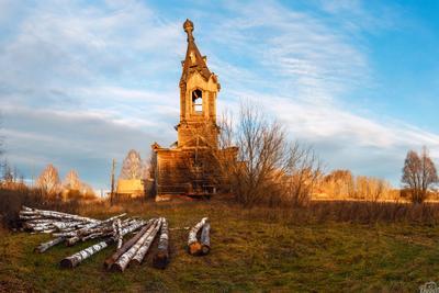 Деревянная церковь в с.Альдия