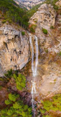 Учан-Су Учан-Су Ялта Крым Водопад водопад заповедник Ай-Петри Ай-Петринская яйла сосна