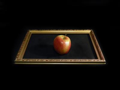 Этюд с яблоком рамка яблоко