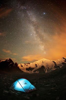 Под звёздами палатка ночь звезды