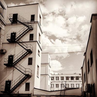 Dramatic Shabolovka здания архитектура лестницы окна небо облака building architecture stairs windows sky clouds