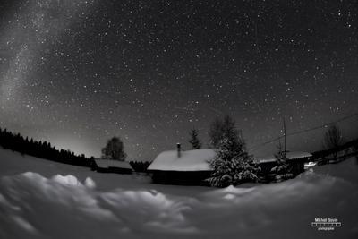 Ночное небо ночь звезды небо лес тайга