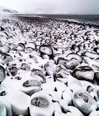 Черно-белая метель Метель Териберка пляж