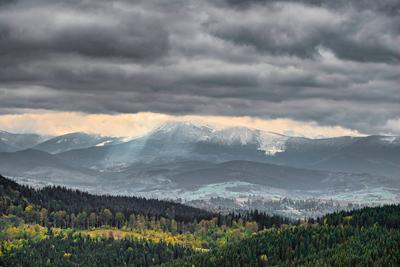 Зима с гор спускается