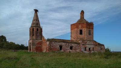 Храм Иоанна Богослова природа деревня пейзаж Россия путешествия туризм лето