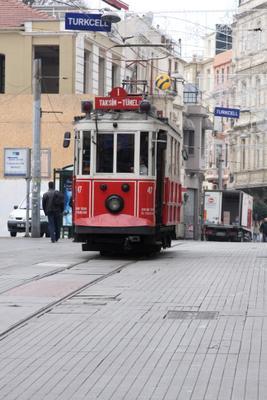 Стамбульские зарисовки Стамбул зима январь истикляль трамвай