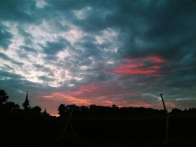 *** nature sky clouds sunset