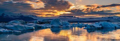 №105. Закат. Ледовая Лагуна. Исландия. Закат Ледовая Лагуна Исландия путешествия фотограф фото пейзаж приключения