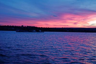 Закат на Днестре закат река Днестр