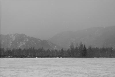 Приближение снежного заряда Хакасия весна путешествия туризм река природа снег mamanna2007
