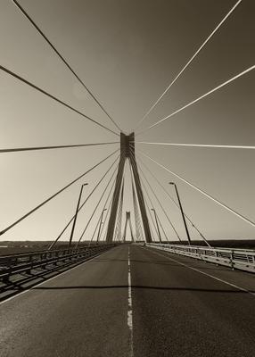 Муромский мост мост муром чб архитектура линии