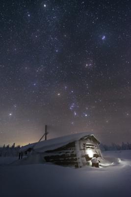 Звезды разбросала ночь урал северныйурал гух ночь зима снег астро звезды