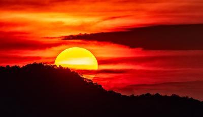 Hiding Sun Закат солнце sunset