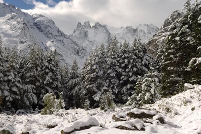 Первый снег Шхельда Кабардино-Балкария