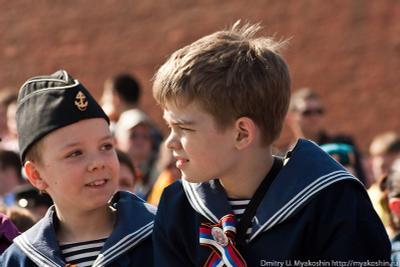 Будущие моряки-подводники Парад победы, кадеты, моряки