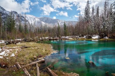 Гейзерное озеро Горный_Алтай горы пейзаж природа beautiful Алтай landschaften Travel озеро