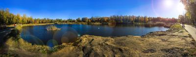 серия осенних панорам осенЬ.природа вода красота золотая осень