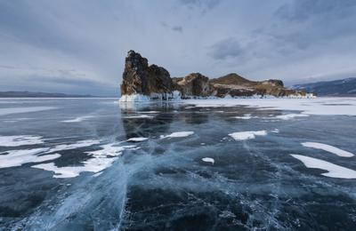 Узоры Марта . Байкал Малое море Ольтрек лед Март