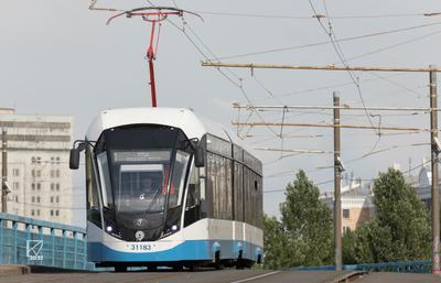 """71-931М """"Витязь-М"""" № 31183 Москва трамвай 71-931М Витязь-М ПКТС Московский_транспорт"""