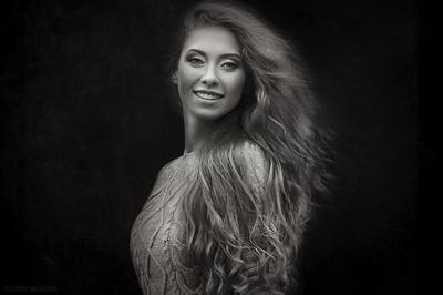 Nadya девушка портрет чёрно-белое nikon 50mm fineart emotion portrait girl чб