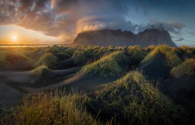Вечер на дюнах Исландия Стокснес