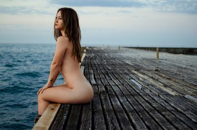 Lisa девушка море лето красивая эротика ню