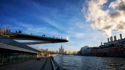 Gfhzobq vjcn Москва набережная Парящий мост город