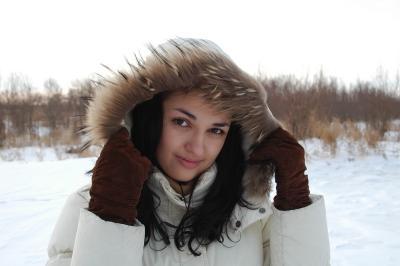 Южанка на снегу