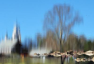 В зазеркалье ... река отражение