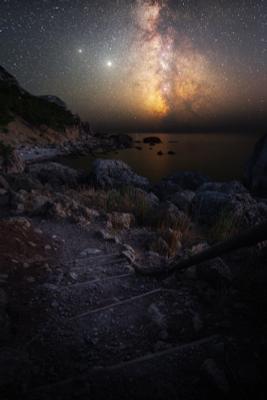 Место силы звезды крым юбк астро млечныйпуть черноеморе балаклава инжир ночь осень