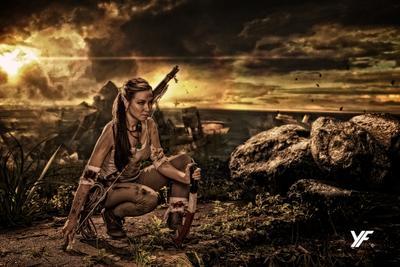 Lara Croft Lara Croft Tomb Raider Лара Крофт расхитительница гробниц фотохудожник портрет модель брюнетка
