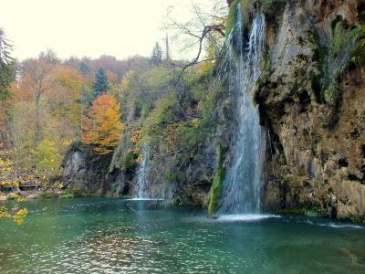 Осенняя симфония Хорватии - вид 2 Осень Национальный парк Плитвицкие Озера Хорватия
