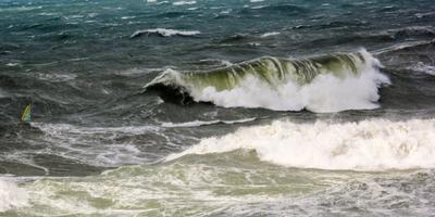Виндсерфинг в Анапский шторм виндсерфинг море шторм экстрим водный спорт