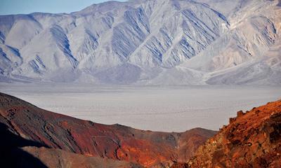 Где-то на подъезде к Долине Смерти США Америка путешествия Долина Смерти серпантин дорога калифорния