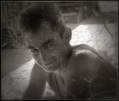 портрет друга командировка Абхазия 2009
