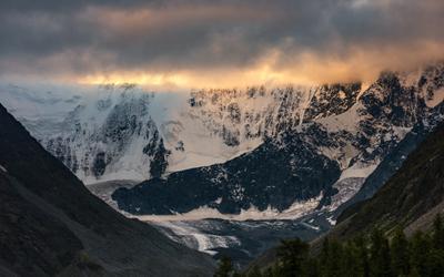 Стена Белухи. горы алтай горный аккем пейзаж природа россия ник васильев красота утро гора белуха стена ледник