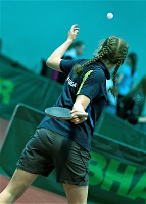 Ты, коси коса от пояса... настольный теннис пинг-понг спорт table tennis ping-pong sport girl