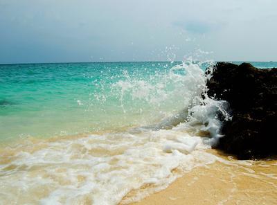 Волна island, остров, волна, море