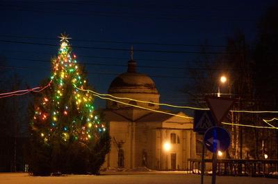 *** Новый год Казанский собор город Кириллов ёлка