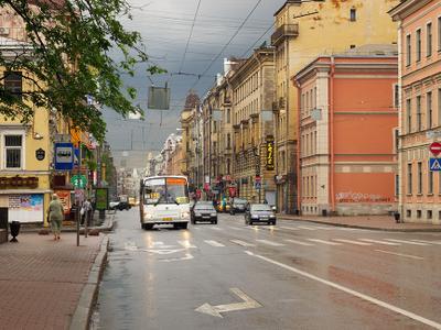 После дождя Санкт-Петербург Большой_проспект_П.С. лето