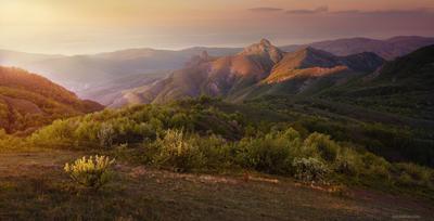 Утро в горах