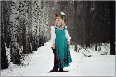 когда же Весна?... природа девушка зима деревья снег
