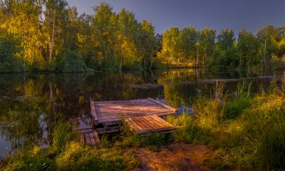 Омут пейзаж река кострома