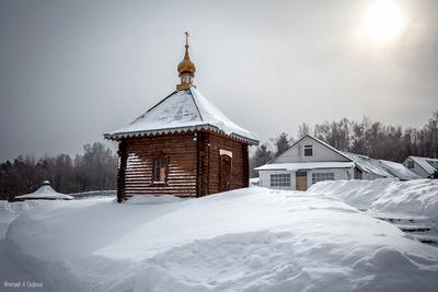Часовня Часовня Церковь Монастырь Зима Мороз Гороховец Владимирская область Русь