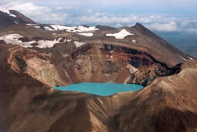 * камчатка фирновое озеро кратерное озеро вулкан семячик